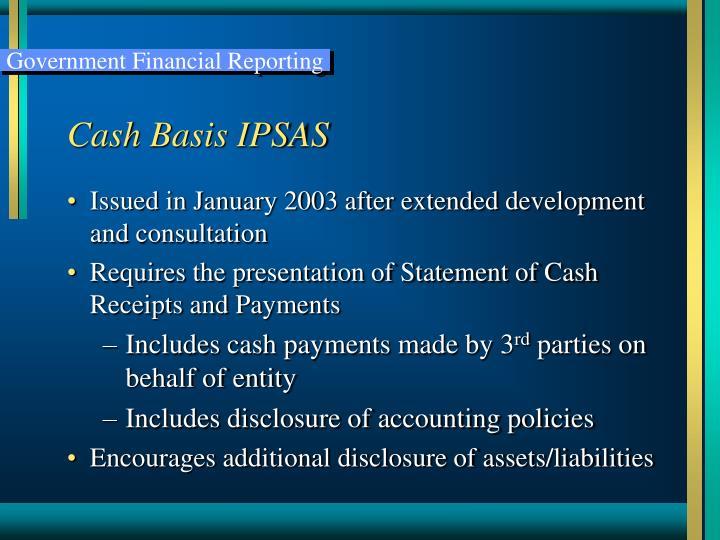 Cash Basis IPSAS