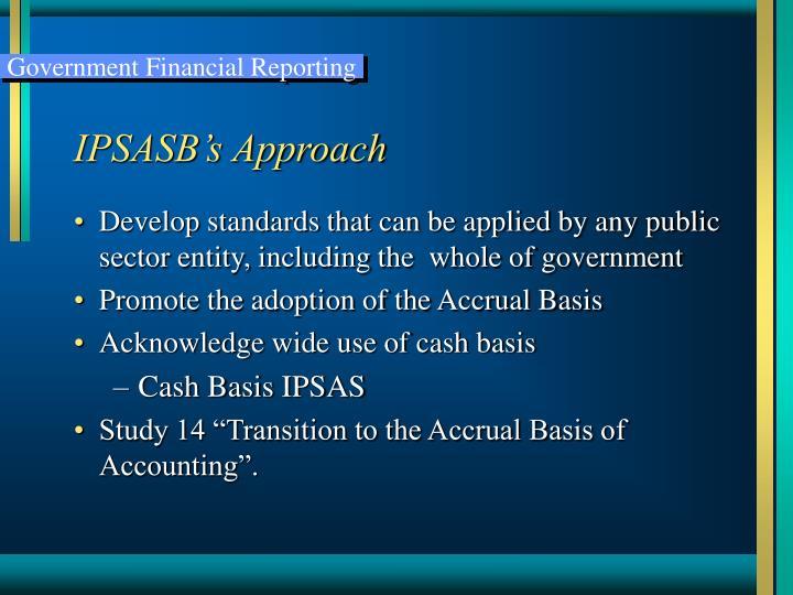 IPSASB's Approach