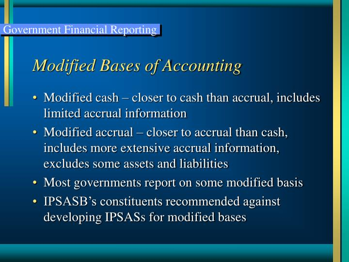 Modified Bases of Accounting