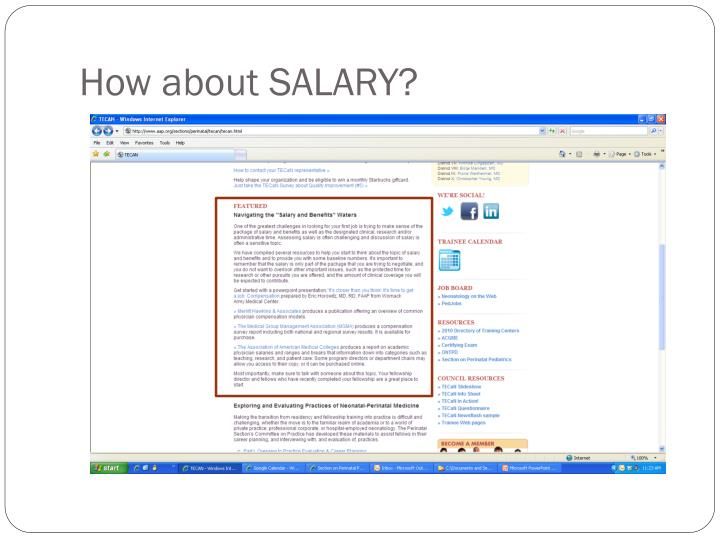How about SALARY?