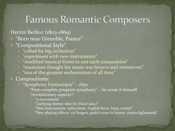 Famous Romantic Composers