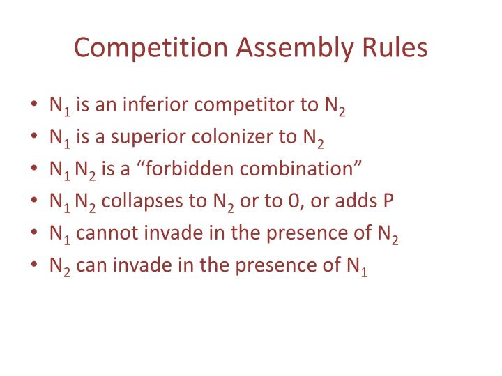 Competition Assembly Rules