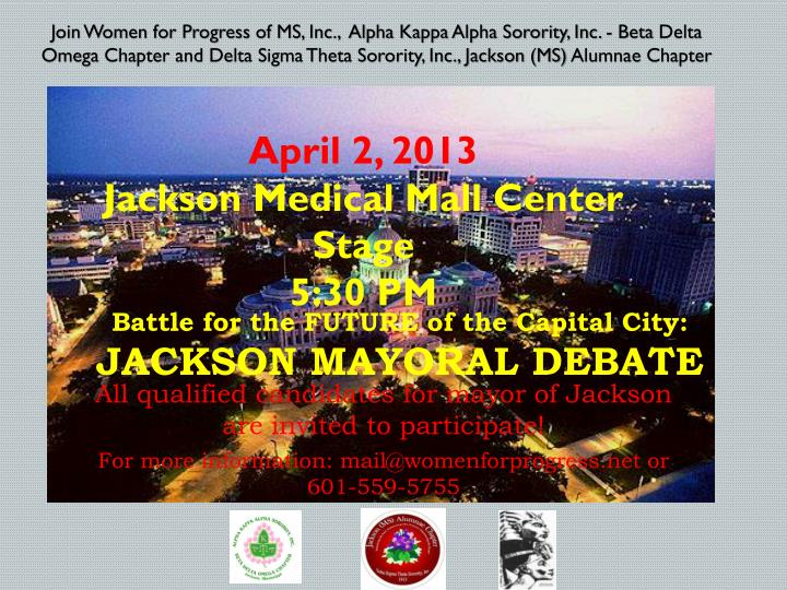 battle for the future of the capital city jackson mayoral debate n.