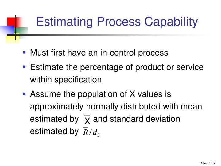 Estimating process capability
