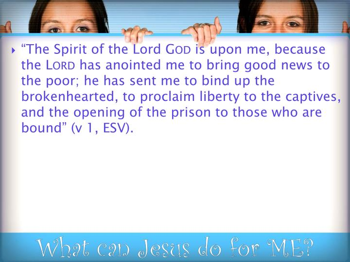 """""""The Spirit of the Lord"""