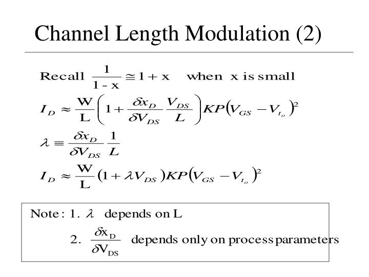Channel Length Modulation (2)