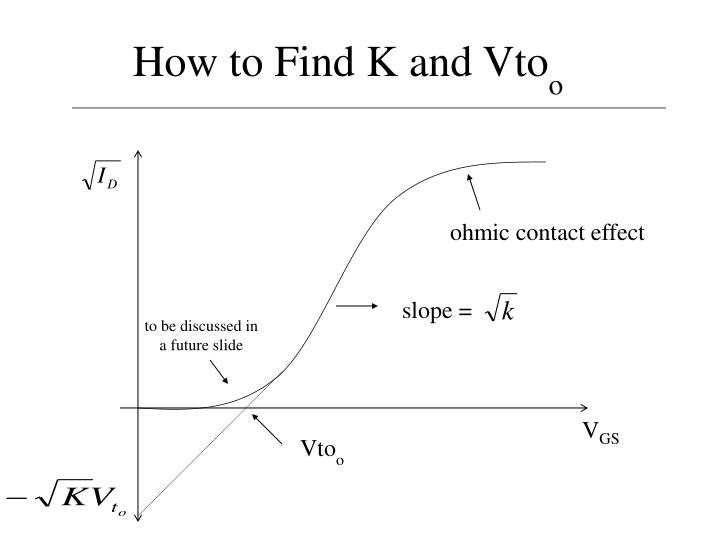 How to find k and vto o1
