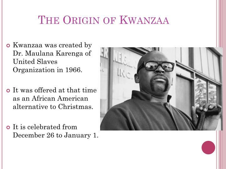 The origin of kwanzaa