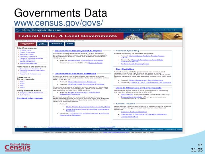 Governments Data