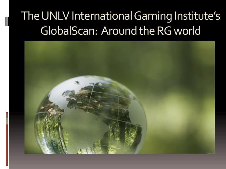 The UNLV International Gaming Institute's