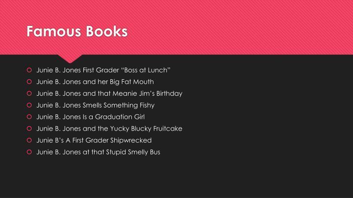 Famous books