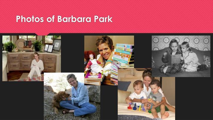 Photos of Barbara Park