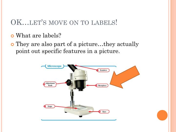 OK…let's move on to labels!