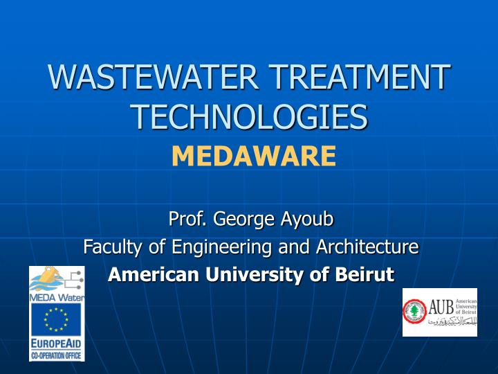 wastewater treatment technologies medaware n.