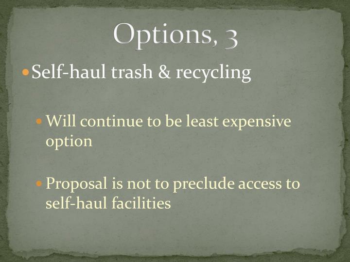 Options,