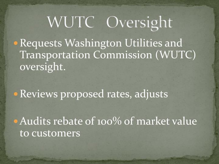 WUTC   Oversight