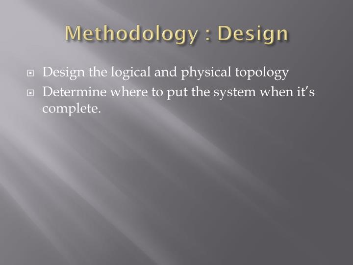 Methodology : Design