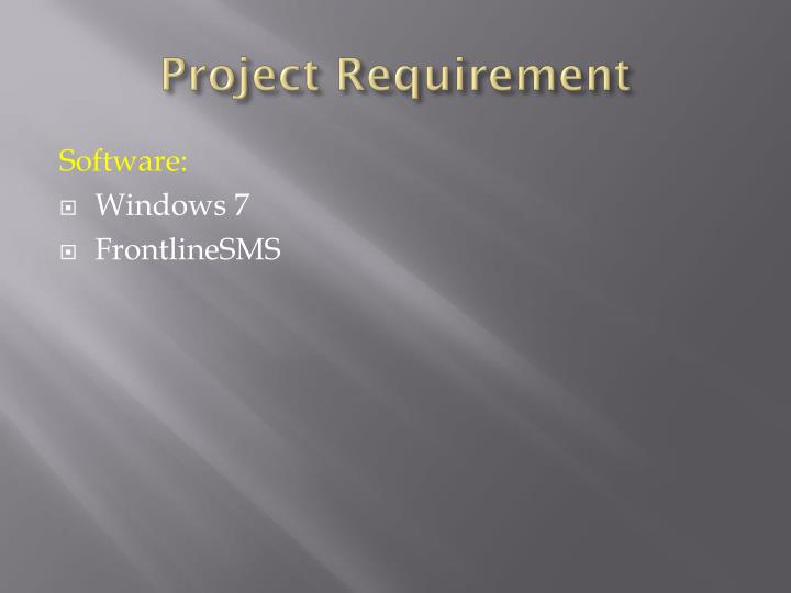 Project Requirement