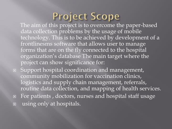 Project Scope