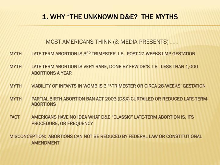MOST AMERICANS THINK (& MEDIA PRESENTS) . . .