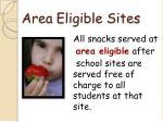 area eligible sites