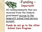 funding important