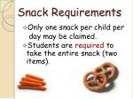 snack requirements