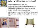 what are illuminated letters