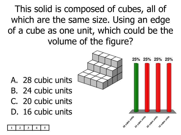 This solid is composed of cubes, all of