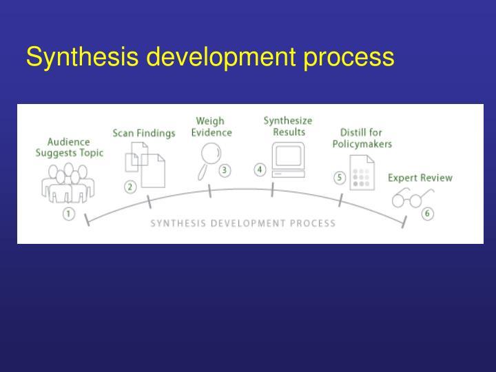 Synthesis development process