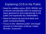 explaining ccs to the public