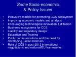 some socio economic policy issues