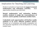 implication for teaching and learning1