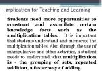 implication for teaching and learning5