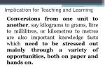 implication for teaching and learning6