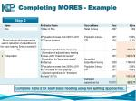 completing mores example1
