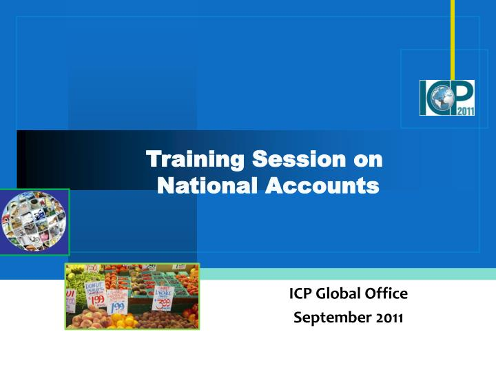 training session on national accounts n.