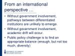 from an international perspective1