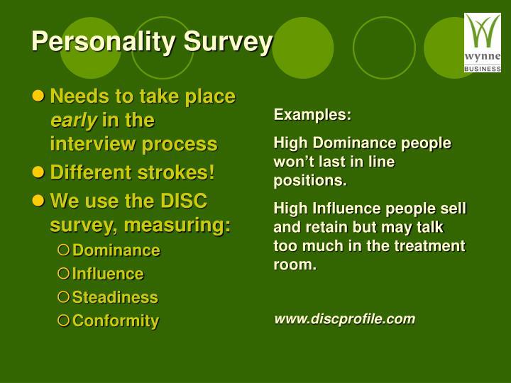 Personality Survey