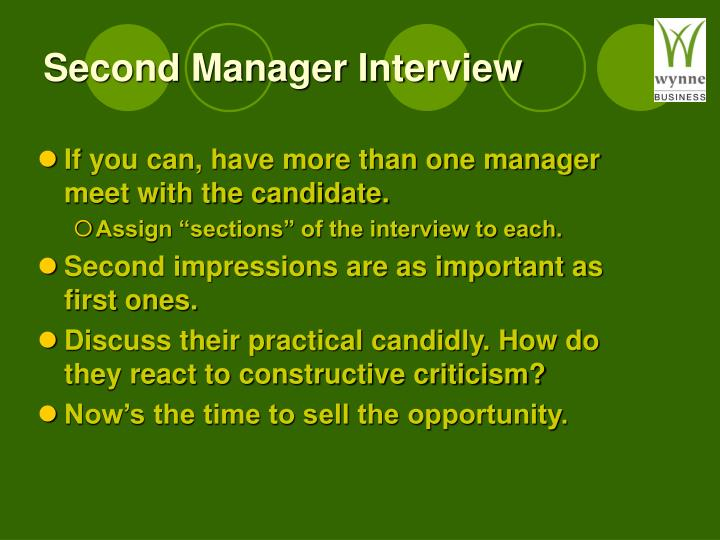 Second Manager Interview