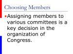 choosing members