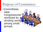 purpose of committees