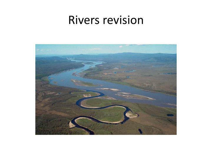 rivers revision n.