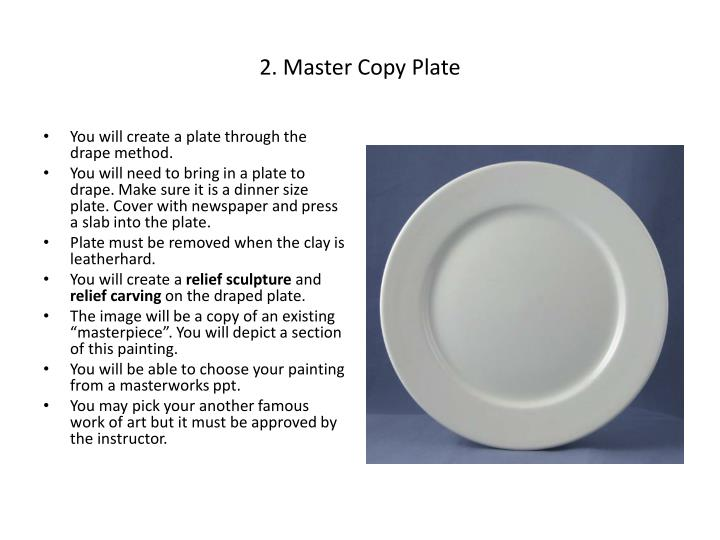 2. Master Copy Plate