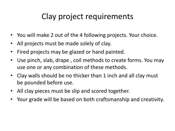 Clay project requirements