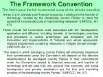 the framework convention the north pays the full incremental costs of the climate transition