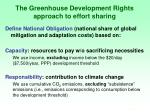 the greenhouse development rights approach to effort sharing