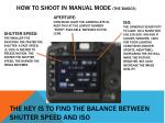 how to shoot in manual mode the basics