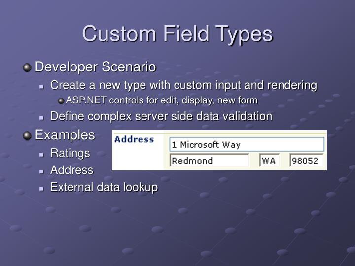 Custom Field Types