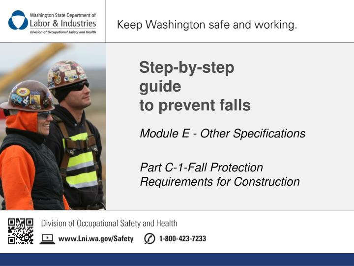 Step by step guide to prevent falls